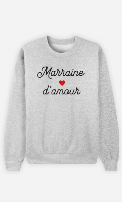 Sweat Femme Marraine D'amour Petit Cœur