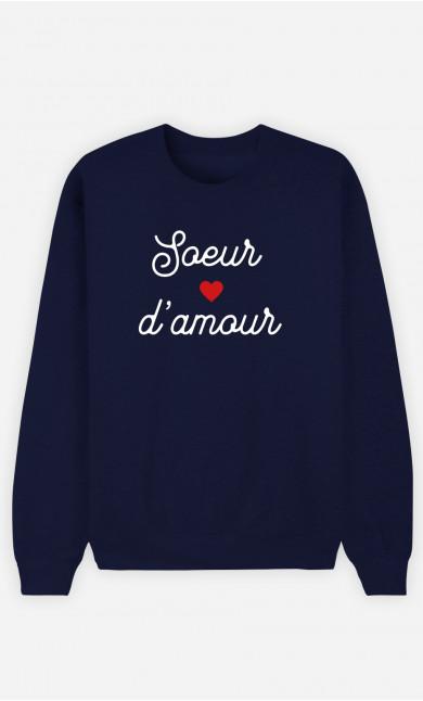 Sweat Femme Sœur D'amour Petit Cœur