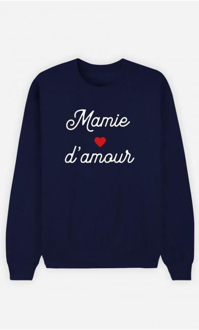 Sweat Femme Mamie D'amour Petit Cœur