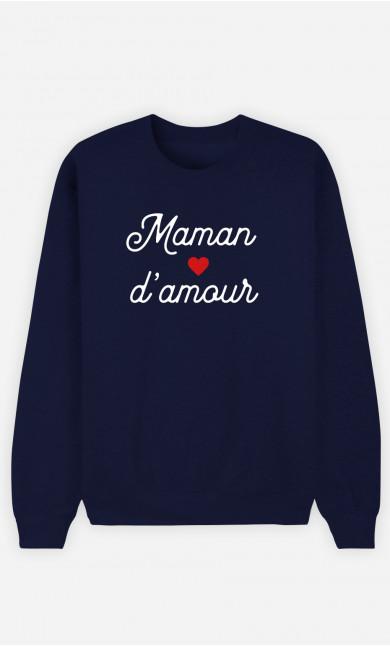 Sweat Femme Maman D'amour Petit Cœur