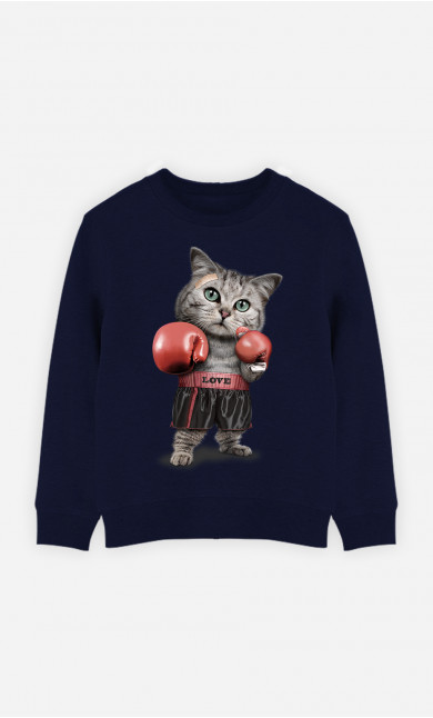 Sweat Enfant Boxing Cat