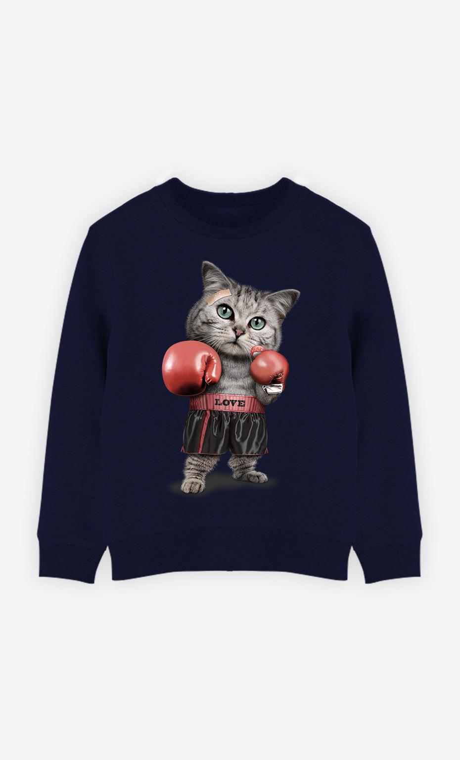 Sweat Enfant Boxing Cat