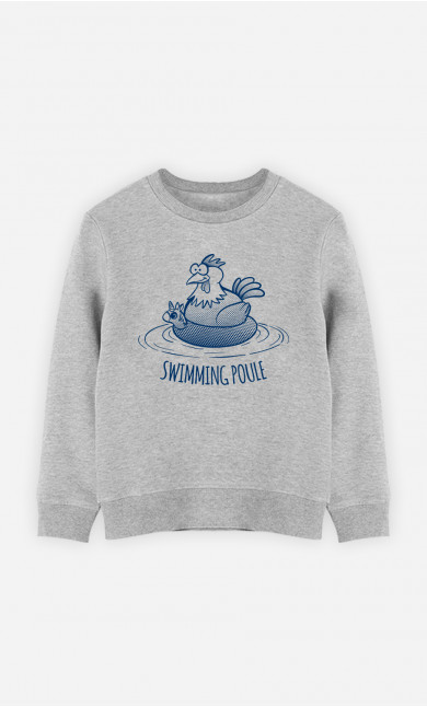 Sweat Enfant Swimming Poule
