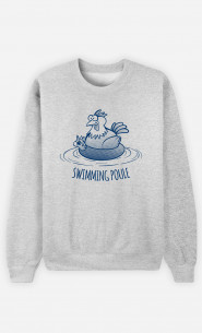 Sweat Homme Swimming Poule