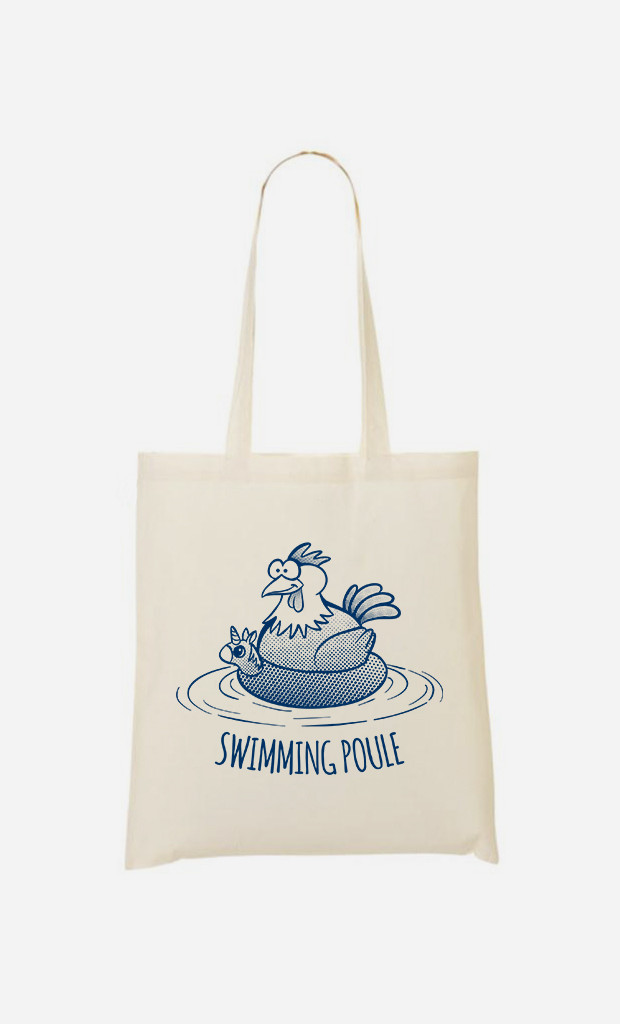 Tote Bag Swimming Poule