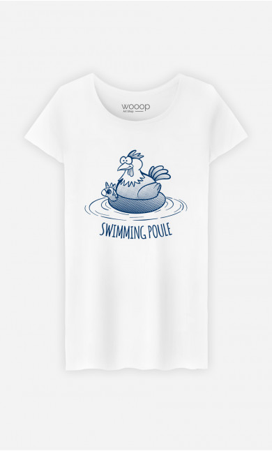 T-Shirt Femme Swimming Poule
