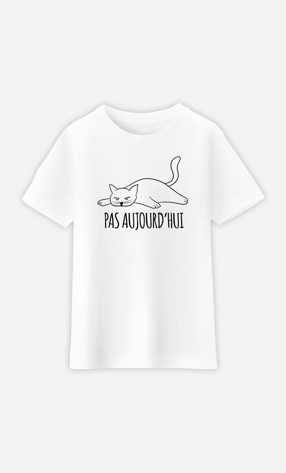 T-Shirt Enfant Pas Aujourd'hui