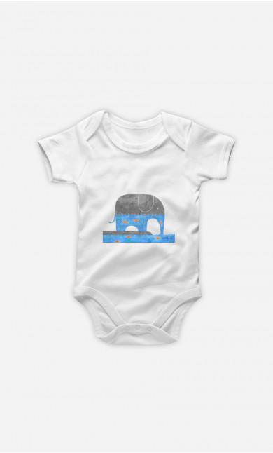 Body Bébé Thirsty Elephant