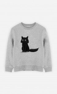 Sweat Enfant Sitting Cat
