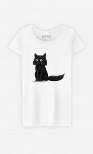 T-Shirt Femme Sitting Cat