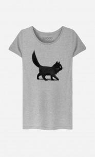 T-Shirt Femme Creeping Cat