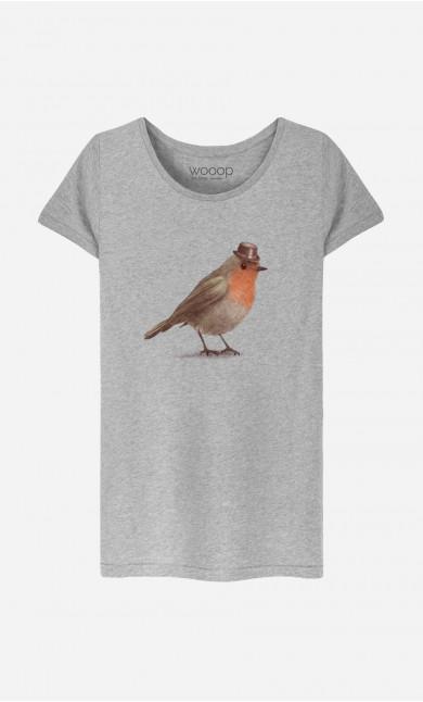 T-Shirt Femme Dapper Robin