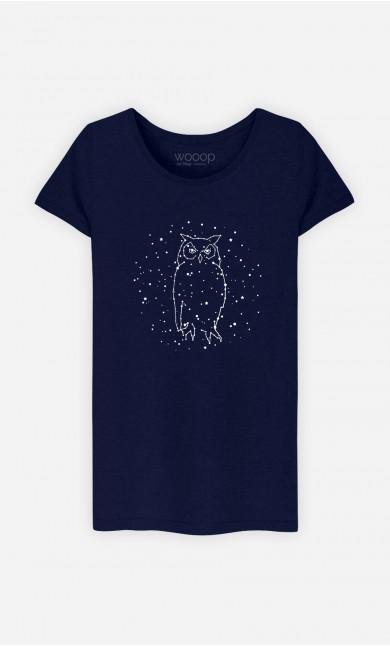 T-Shirt Femme Owl Constellation