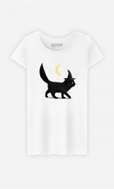 T-Shirt Femme Halloween Cat