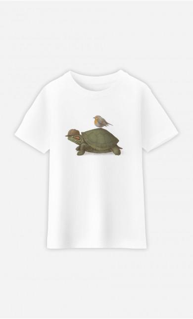 T-Shirt Enfant Turtle And Bird