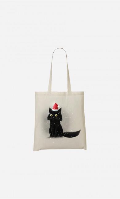 Tote Bag Christmas Cat
