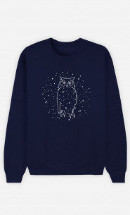 Sweat Homme Owl Constellation