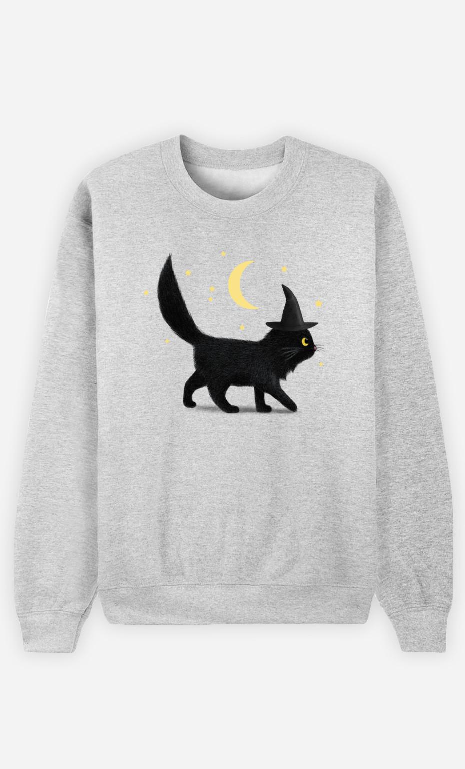 Sweat Femme Halloween Cat
