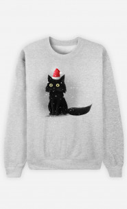 Sweat Femme Christmas Cat