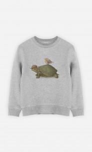 Sweat Enfant Turtle And Bird
