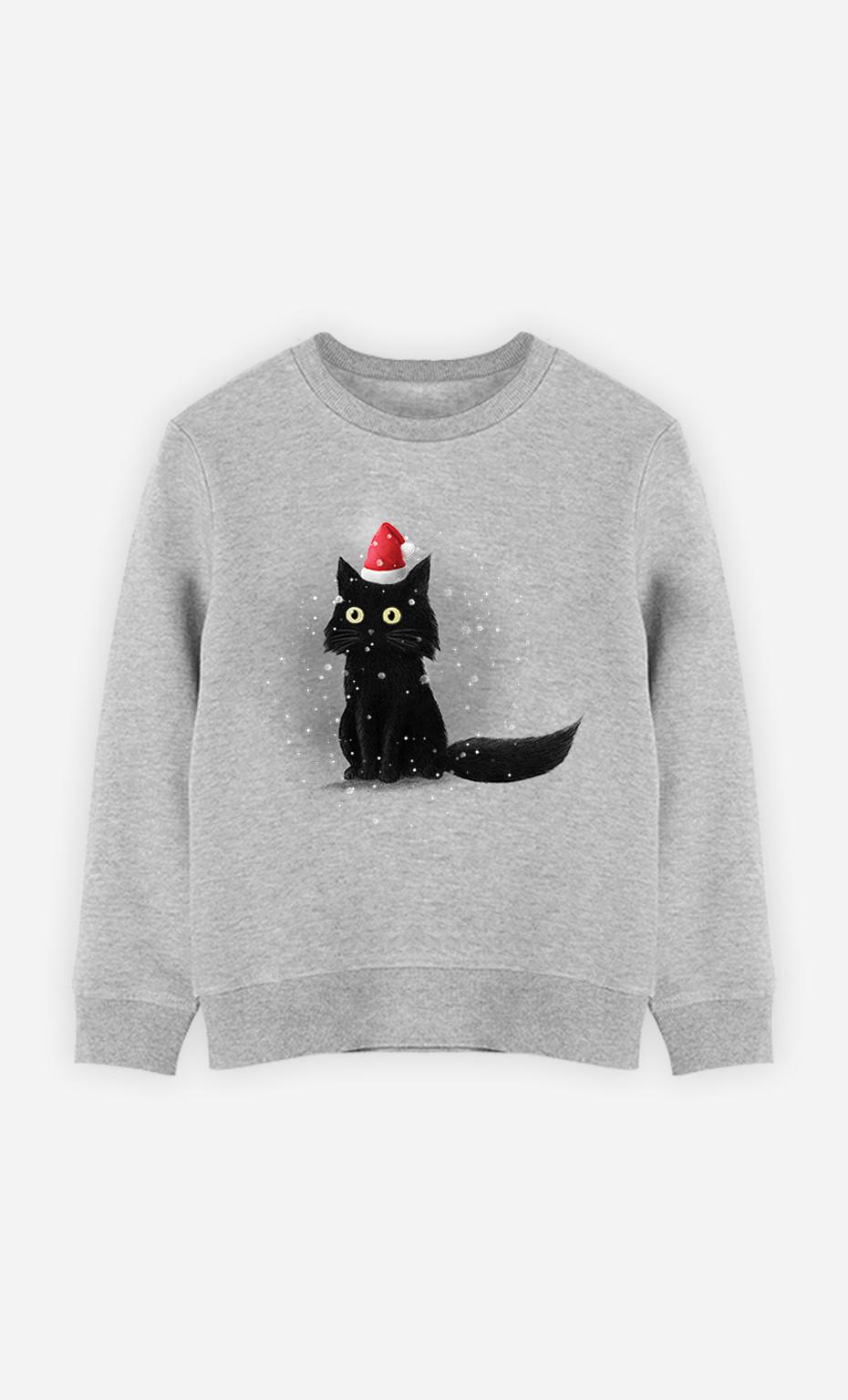 Sweat Enfant Christmas Cat