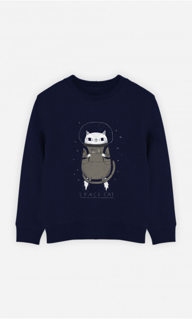 Sweat Enfant Space Cat