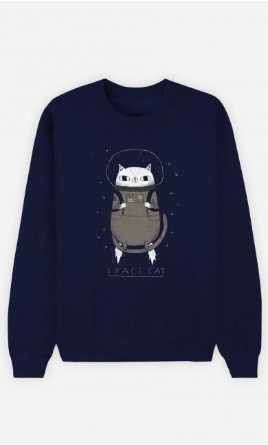 Sweat Femme Space Cat