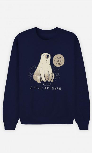 Sweat Homme Bipolar Bear