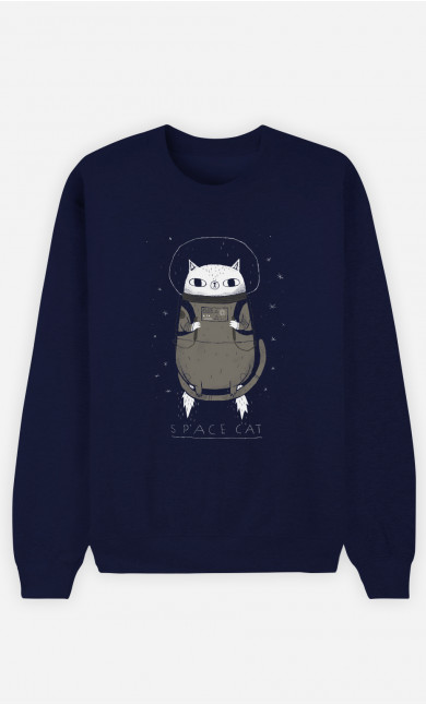 Sweat Homme Space Cat