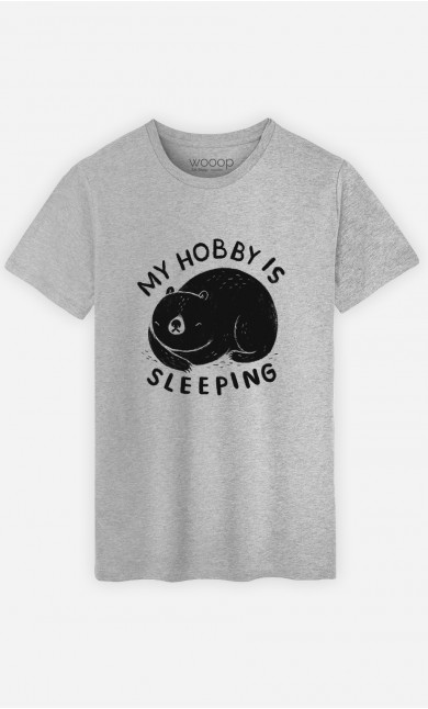 T-Shirt Homme My Hobby Is Sleeping