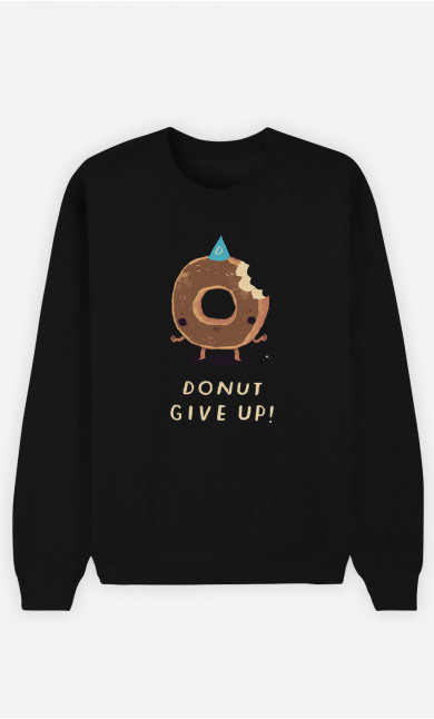Sweat Homme Donut Give Up