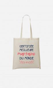 Tote Bag Certifiée Meilleure Marraine Du Monde