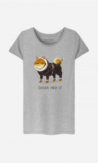 T-Shirt Femme Shiba Inuit