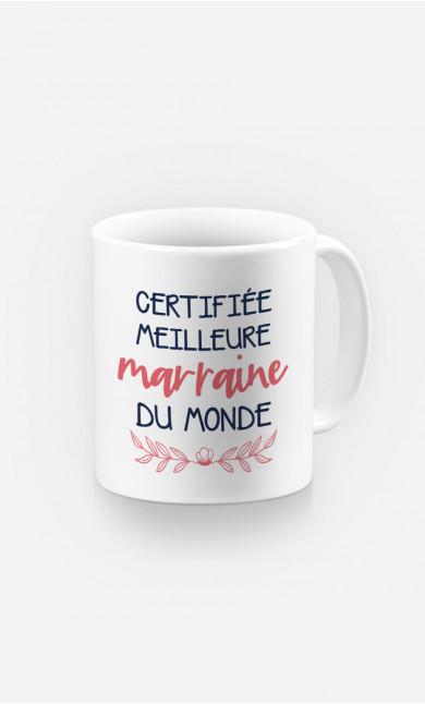 Mug Certifiée Meilleure Marraine Du Monde