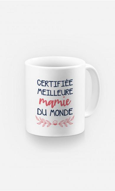 Mug Certifiée Meilleure Mamie Du Monde