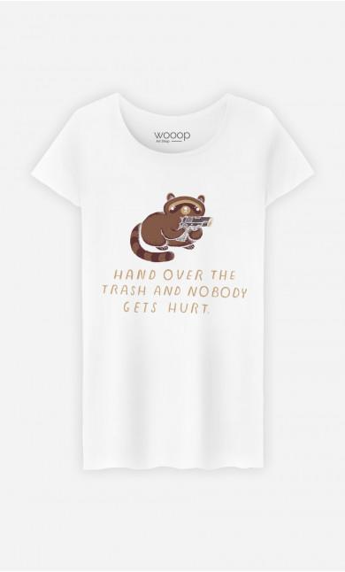 T-Shirt Femme Raccoon