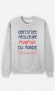 Sweat Femme Certifiée Meilleure Mamie Du Monde