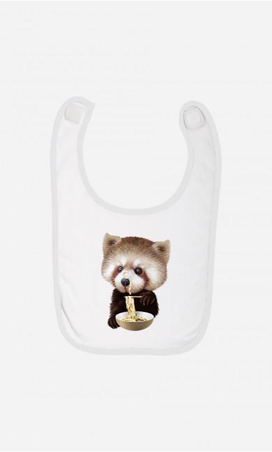 Bavoir Bébé Red Panda Loves Noodles