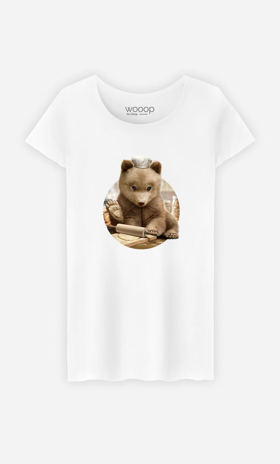 T-Shirt Femme Chef Bear