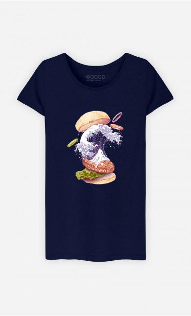T-Shirt Femme Kanagawa Burger