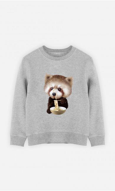 Sweat Enfant Red Panda Loves Noodles