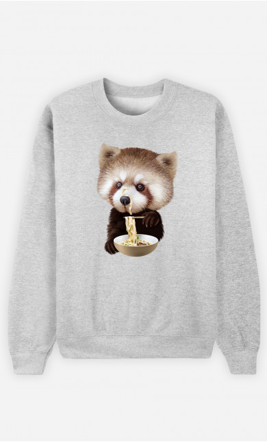 Sweat Homme Red Panda Loves Noodles