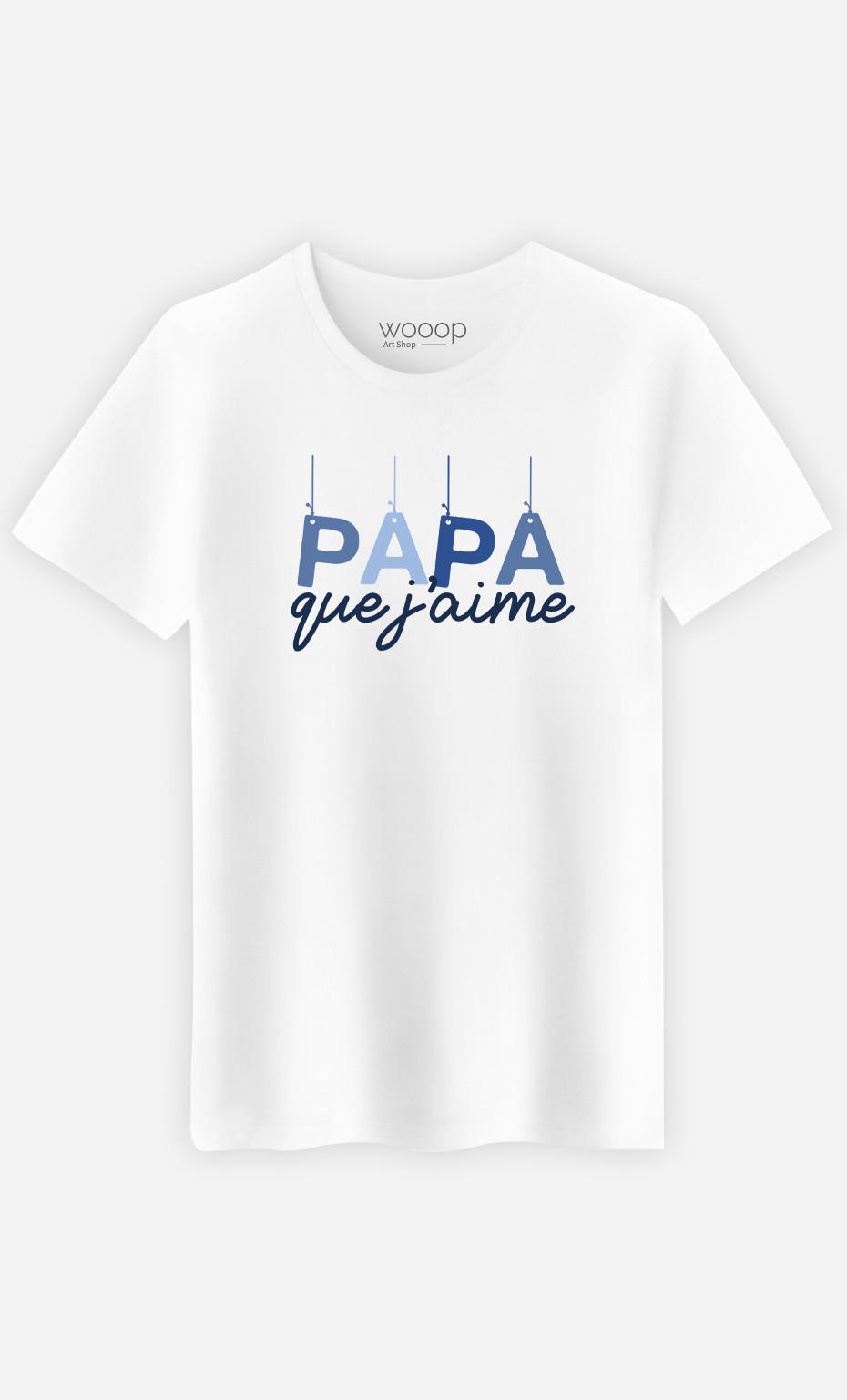 T-Shirt Homme Papa Que J'aime