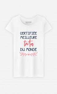 T-Shirt Femme Certifiée Meilleure Tata Du Monde
