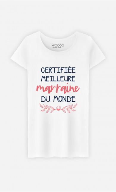 T-Shirt Femme Certifiée Meilleure Marraine Du Monde