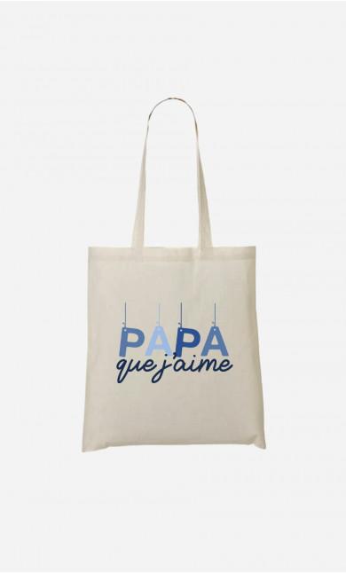 Tote Bag Papa Que J'aime