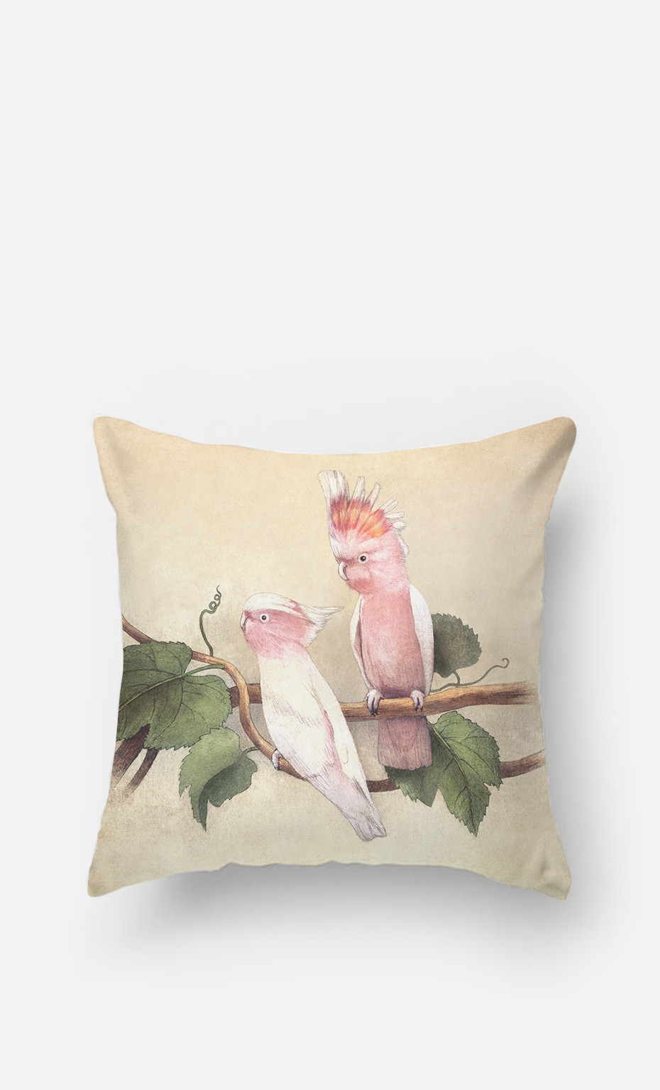 Coussin Pink Cockatoos