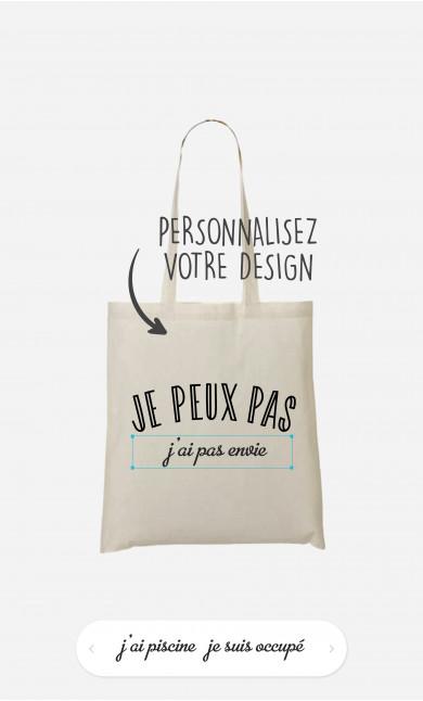 Tote Bag Je Peux Pas à personnaliser