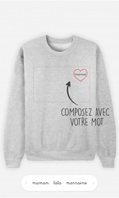Sweatshirt Femme Cœur à personnaliser