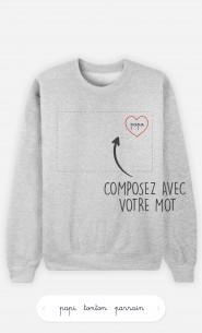 Sweatshirt Homme Cœur à personnaliser